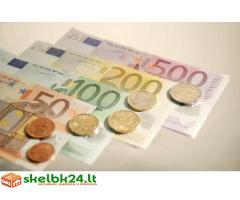 siūlo pinigų paskolos be kredito patikrinimas