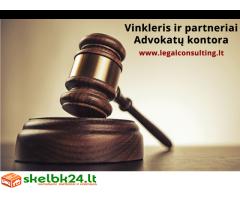 Vinkleris ir partneriai.Advokatų kontora Vilniuje. Advokatas Vilniuje
