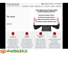 puslapiai24.lt - Internetinių svetainių kūrimas, Internetinių svetainių administravimas
