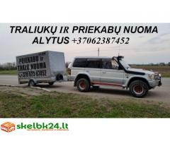 TRALIUKO/PLATFORMOS/PRIEKABOS NUOMA ALYTUS! +37062387452