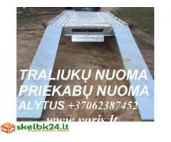 Nuomuojam auto traliukus-priekabas  +37062387452; +37067247506; +37064614499 Alytus
