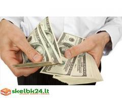 Paskolos pasiulymas pinigu tarp free private