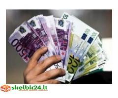 Pasiūlyti paskolos pinigų