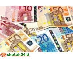 pinigų ir investicijų paskolos pasiūlymas tarp ypač