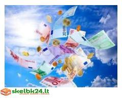 Rimtas ir greitas kredito sutartis tarp individualių