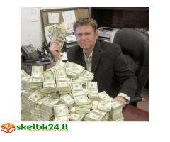 Paskolos pasiūlymas pinigų asmenims