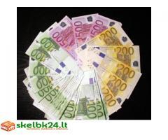 Paskolos pinigais asmenims
