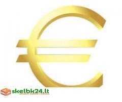 paskolos pasiūlymas nuo 5,000€ iki 20.000,000€
