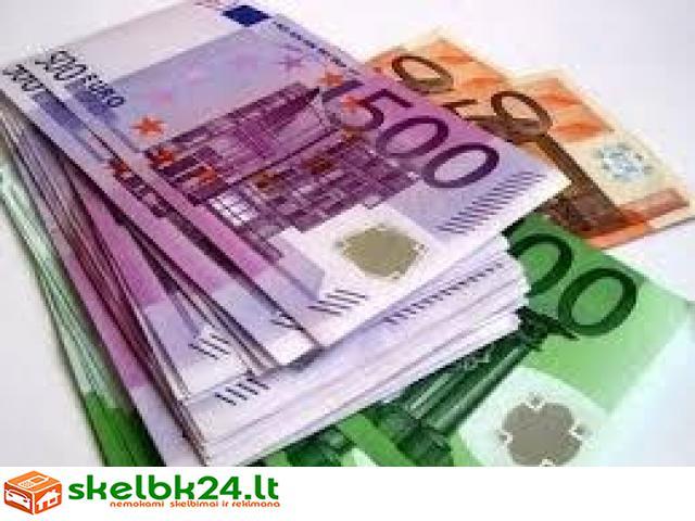 Aš siūlau pinigus be pinigu garantijos