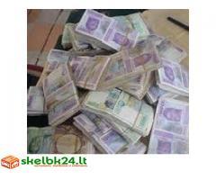Sveiki paskolos pasiūlymas už reikia pinigų asmeniui