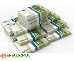 Teikia paskolą pinigus nuo 2000 EURO 80.000 EURO